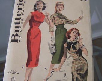 Butterick 8213 Vintage 1950's Wiggle Dress Size 14 Bust 34