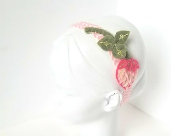 Pink Clover Headband | Baby Shower Gift, Newborn Photo Prop, Spring, Floral, Flower Crown, Elastic Hair Band, Cute, Child, Accessory |