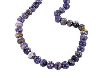 20% Off Sale : ) Gorgeous Charoite Faceted 11.5mm Rondelle Beads New World Gems