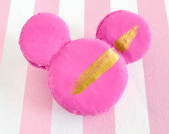 Strawberry Scented Mouse Ear Macaron Pins