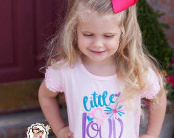 Baby Girl T Shirts - Baby clothes for girls - Little and Loud Outfit - Baby Girl Outfits -  Newborn Girl Clothes - Toddler Girl Outfit