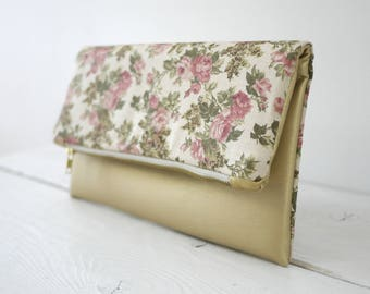 Rose gold purse | Rose gold clutch | wedding rose gold clutch | dusty rose clutch