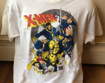 Vintage 1994 Marvel X-Men wolverine comics vintage t shirt size large 1990's