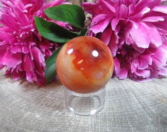 Carnelian Crystal Ball, Carnelian Ball, Agate Crystal Sphere, Carnelian Crystal, Crystal Sphere, Carnelian Gemstone Sphere 200g