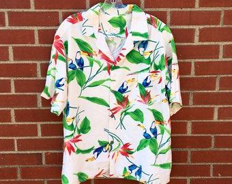 Vintage Hawaiian Shirt - Large