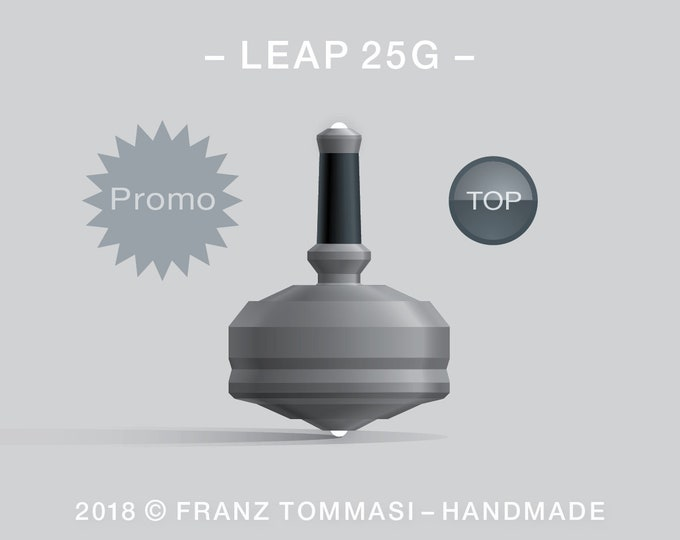 Leap 25G (Gray) – Spin top with dual ceramic tip and rubber grip