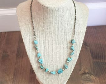Upcycled Turquoise Necklace