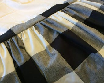 Buffalo Check Bed Skirt Dust Ruffle Available in Several Colors and Sizes