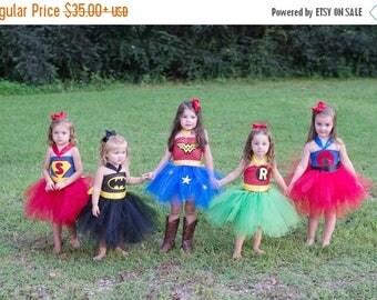 EARLYBIRD SALE Wonder Woman Tutu Super Hero Tutu Halloween Costume Batman Robin Spiderman Superman INSPIRED tutu dress costume