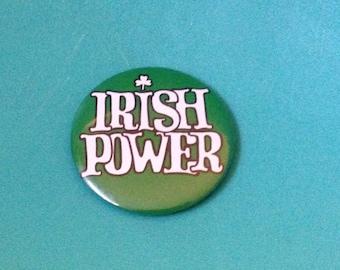 Irish Power Button Pin *FREE SHIPPING*