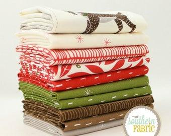 "Merrily - Fat Quarter  Bundle - 10 - 18""x21"" Cuts - by Gingerber - Moda Quilt Fabric"