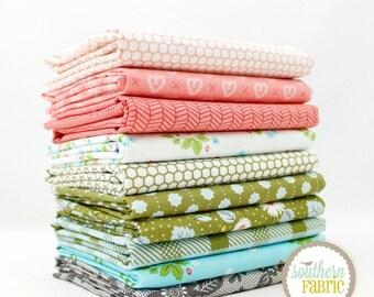 "Lella Boutique - Half Yard Bundle - 10 - 18""x44"" Cuts - by Lella Boutique - Moda Quilt Fabric"