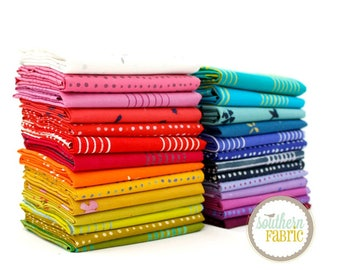 "Chroma- Fat Quarter Bundle - 27 - 18""x21"" Cuts by Allison Glass for Andover Quilt Fabric (AG.CH.27FQ)"