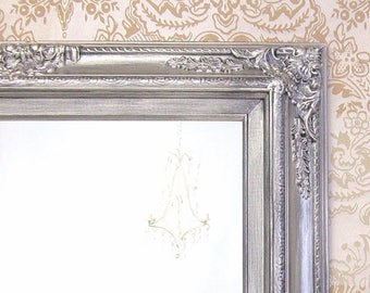 MANY SIZES AVAILABLE Silver Framed Bathroom Mirror Baroque Vanity Wall 31x27