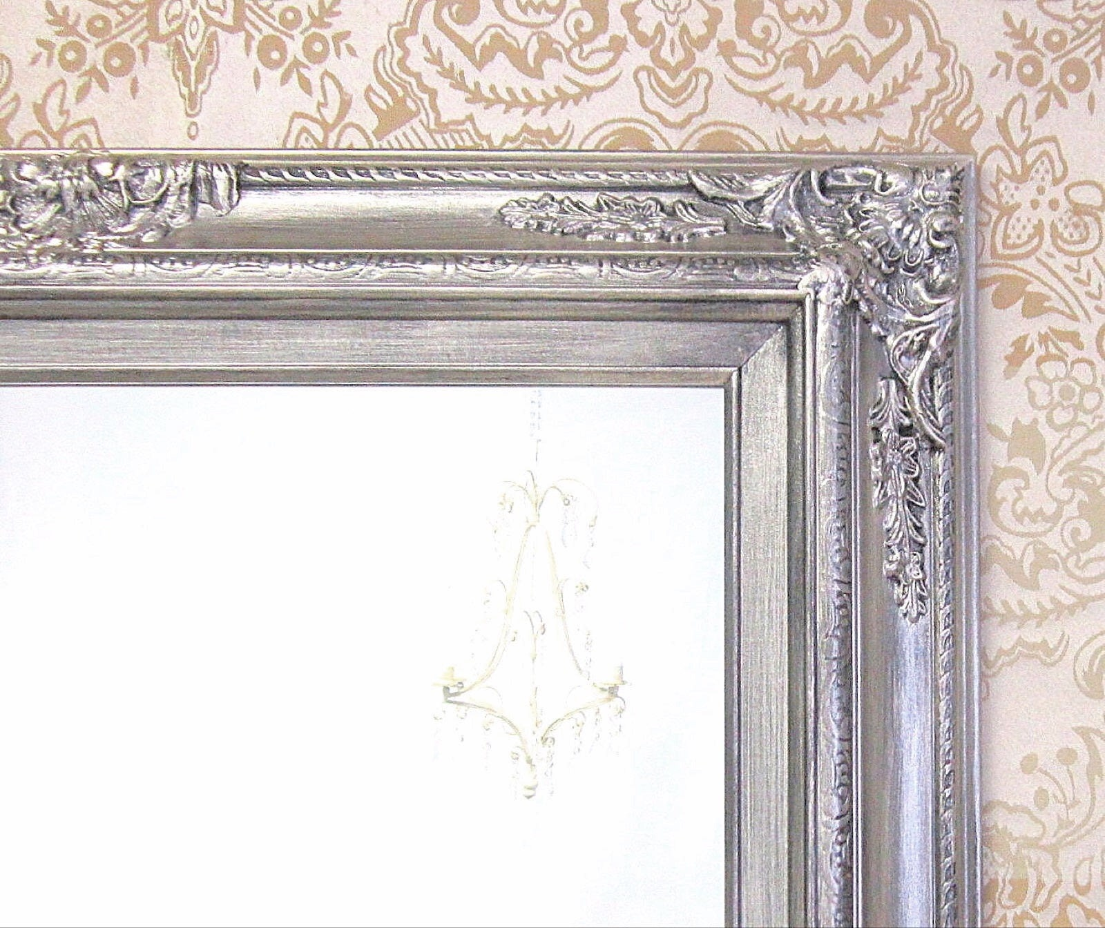 MANY SIZES AVAILABLE Silver Framed Bathroom Mirror