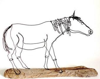 Horse Wire Sculpture, Wire Art, Horse Wire Art, Minimal Sculpture, Calder Inspired Art, 551095421