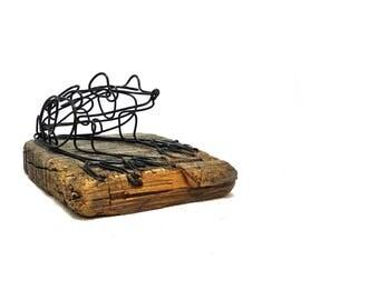 Frog Wire Sculpture, Frog Art, Minimal Sculpture, Folk Art, Home Decor, 559699704