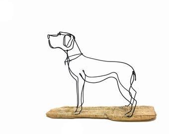 Boxer Dog Wire Sculpture, Dog Wire Art, Home Decor, 562051146