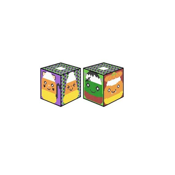 Plastic Canvas Candy Corn Cuties Boutique Tissue Box Cover