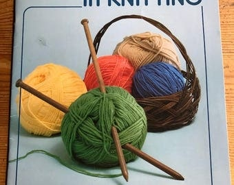 1983 First Steps in Knitting pamphlet american School of Needlework by Mary Thomas # 5102