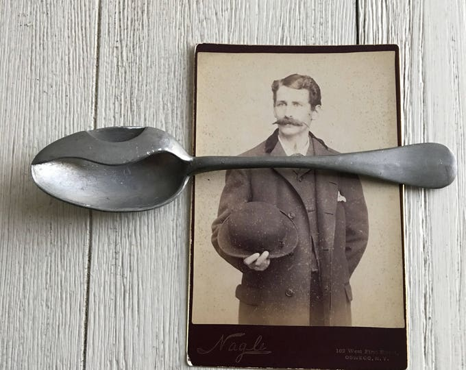 Mustache Spoon Antique Victorian Dude's Etiquette Left Handed