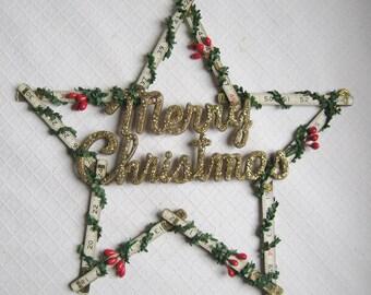 Folding Ruler Merry Christmas Sign