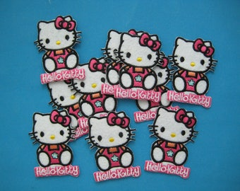 Wholesale Lot 10 pcs Iron-on Embroidered Patch Hello Kitty Cat 2.5 inch