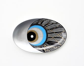 Evil eye Decor - Evil Eye Plate - Evil eye Wall Art - Evil Eye Art - Decorative Plate - Blue Evil Eye - plate Art - Plate Decor - Wall Decor