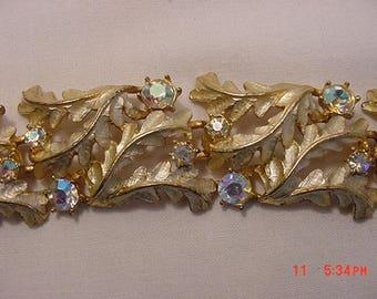 Vintage Aurora Borealis Rhinestone Bracelet  17 - 794