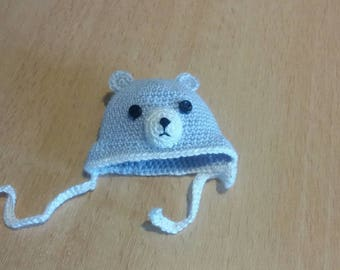Amigurumi crochet bear hat for approx. 5 inch baby