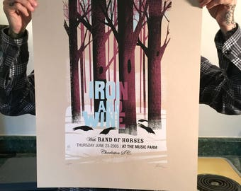 Iron and Wine Woods 2005 poster