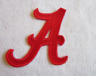 Embroidered Alabama Football Iron On Patch, Roll Tide, Crimson Tide, College Football
