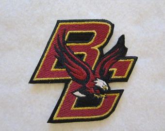 Boston College Embroidered Iron On Patch, Boston College Patch, Boston, Boston College, Iron On Patch, Boston Applique