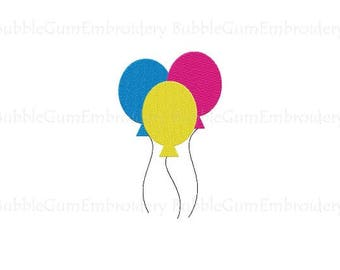 Balloons Embroidery Design Instant Download