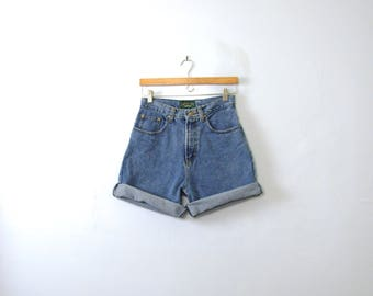 Vintage 80's American Eagle high waisted denim shorts, blue jean shorts, size 6 / 4