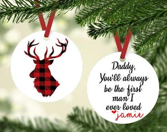 Daddy Christmas Ornament - Best Dad Ornament ~ Custom Ornament - Dad and Daughter Ornament - Personalized Christmas Ornament - Gift under 20