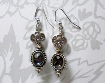 Ice Blue and Silver Earrings (3836)