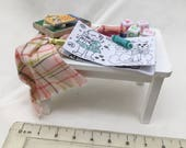 Dolls House Miniatures - Girls Toy Table