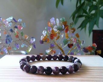 "Handmade Genuine Multicolor Tourmaline Bracelet, Natural Tourmaline Gemstone Stretch 7.25"" Bracelet, Meditation Healing, Immune System"