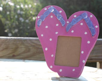 Sea Glass Flip Flop Picture Frame