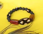 Black Lava Bracelet, Men&...