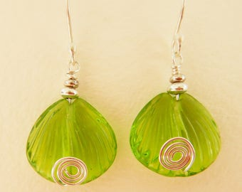 Earrings, with Artisan made Lampwork Beads