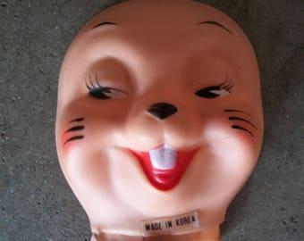 Vintage Plastic Vinyl Buck Tooth Animal Face