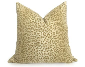 Snow Leopard Designer Pillow Cover - Animal - Leopard Pillow - Tan - Beige - Khaki - Gold - Cheetah Pillow - Tan Pillow - Decorative Pillow
