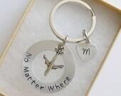 No Matter Where Keychain, Personalized Best Friend Gift, Long Distance Friendship Gift, Friends Gift, No Matter Gift, Best Friend Gift,
