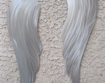 Abstract Modern Metal Wall Art angel wings Sculpture by Holly Lentz