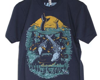 Reverence Whale Tails Tee American Apparel Navy Burlington VT