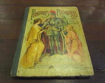 Pilgrim's Progress in Words of One Syllable  - Children's Book - Antique Books