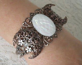 Copper Triple Moon Cuff Bracelet, wiccan jewelry pagan jewelry wicca jewelry goddess jewelry witch witchcraft wiccan bracelet pagan bracelet