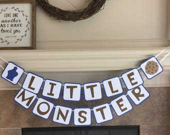 Cookie Monster Baby Shower - Cookie Monster Party - Cookie Monster Banner - Cookie Monster Birthday- Baby Shower Decorations